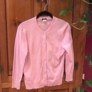J Crew pink cardigan medium